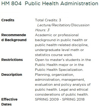 course description of public administration in 2018-6-20 the course explores public administration from neoliberalism and beyond to focus on the development of multi-sector administration,.