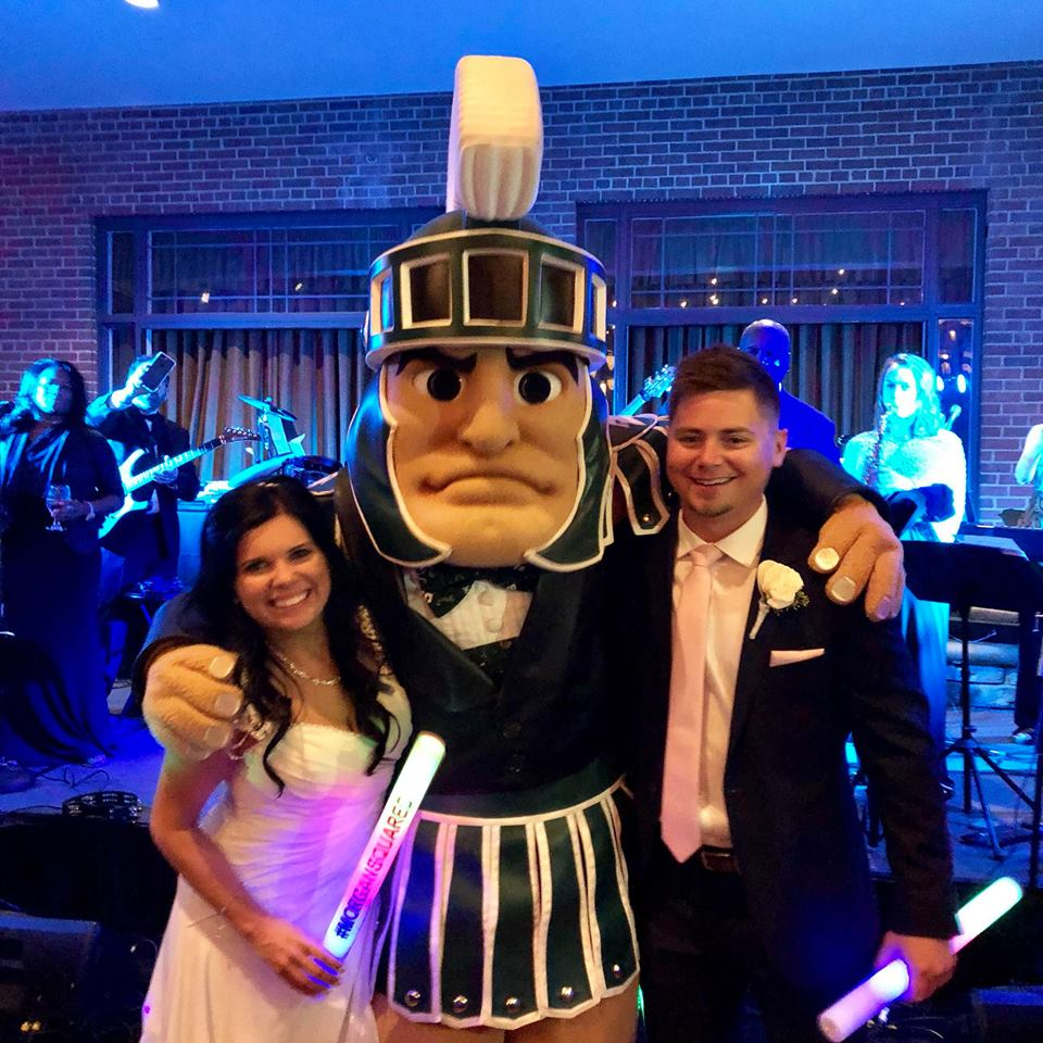 sparty at morgans wedding