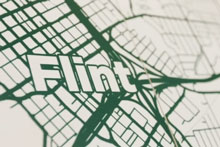 Graphic map showing flint